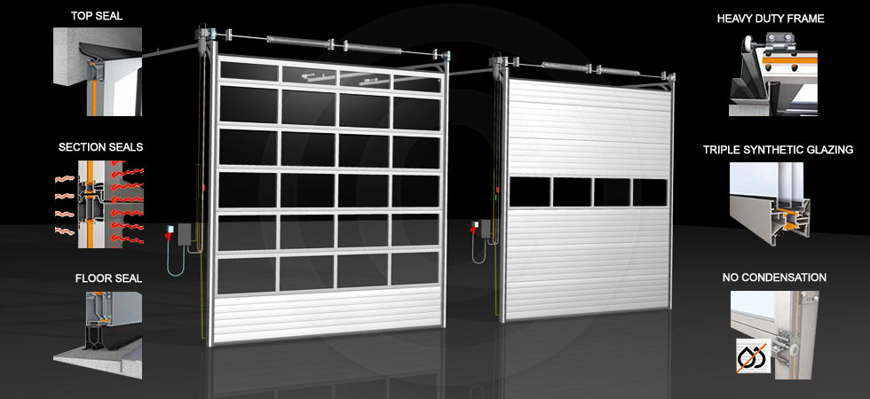 Glazed ALU Sectional Doors